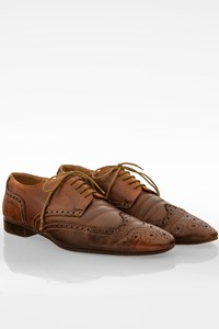 Paul Smith Tan Leather Lace Up Oxfords / Size: 9 (42) - Fit: True to size