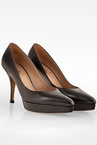 Saint Laurent Black Leather Pumps / Size: 37.5 - Fit: 38