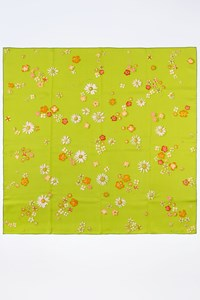 "Hermès Lime ""Flower Power"" Scarf by Leigh P. Cook"