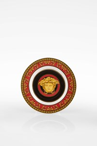 Versace by Rosenthal Medusa Baroque Print Porcelain Small Plate