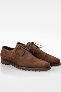 Prada Brown Suede Lace Up Oxford Shoes / Size: 9.5 (43.5) - Fit: True to size
