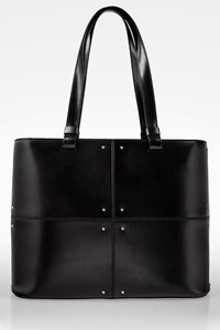 Tod's Black Leather Tote Bag with Studs