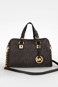 MICHAEL Michael Kors Black Logo Perforated Tote Bag