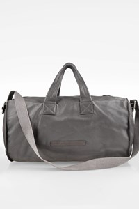 Marc By Marc Jacobs Grey Leather Duffle - Weekender Bag