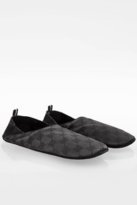 Gucci Black GG Canvas Travel Slippers / Size: ? - Fit: 39-40