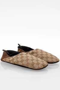 Gucci Beige GG Canvas Travel Slippers / Size: ? - Fit: 39-40