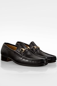 Gucci Black Soft Leather Men's Loafers / Size: 11.5 D (44.5) - Fit: True to size