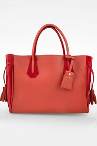 Longchamp Rust-color Leather Penelope Tote Bag