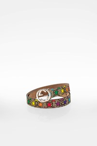 Gucci Multicoloured GG Canvas Kids Belt with Stars