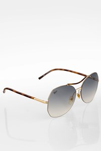 Gucci GG 2847/S Brown Tortoise Acetate Aviator Sunglasses