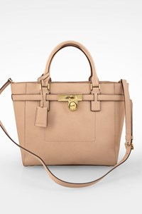 MICHAEL Michael Kors Nude Hamilton Traveler Saffiano Leather Tote Bag