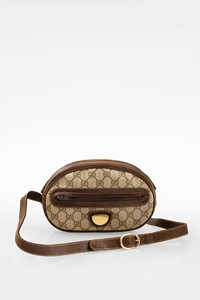 Gucci Beige GG Canvas Vintage Crossbody Bag