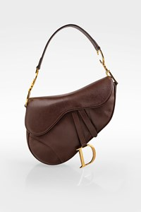 Dior Maroon Leather Saddle Shoulder Bag