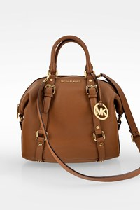 MICHAEL Michael Kors Brown Bedford Leather Tote Bag with Shoulder Strap