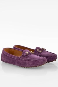 Ralph Lauren Collection Purple Suede Moccasins / Size: 10B (41) - Fit: True to size