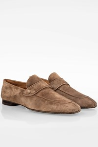 Tom Ford Beige Suede Berwick Loafers / Size: 8 ½ (41.5) - Fit: True to size