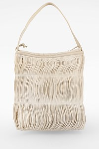 Dkny White Rope and Leather Shoulder Bag