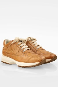 Hogan Tan Leather Interactive Sneakers / Size: 36 - Fit: 37