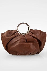 Dior Brown Babe Leather Tote Bag