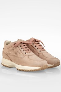 Hogan Nude Interactive Suede Sneakers / Size: 39 - Fit: 40