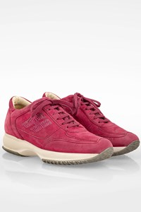 Hogan Fuchsia Interactive Suede Sneakers with Crystals / Size: 39 - Fit: 40
