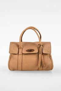 Mulberry Small Beige Leather Embroidered Bayswater Tote Bag