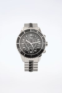 Dior Silver Christal CD114317 Stainless Steel Watch with Black Crystals