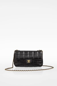 Chanel Black Leather Quilted Mini Chocolate Bar Flap Crossbody Bag