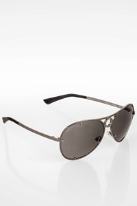 Valentino Anthracite Tone 5301/S Metal Sunglasses with Decorative Crystals