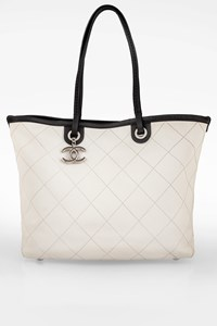 Chanel White Fever Quilted Leather Shopper Bag