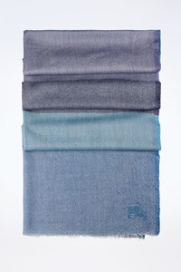 Burberry Lightweight Scarf in Shades of Blue
