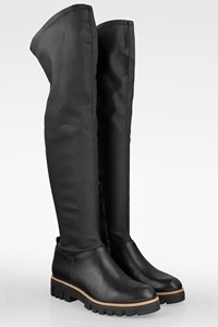 Rococo Black Over-The-Knee Boots / Size: 38 - Fit: 38.5