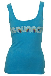Dsquared Light Blue Stamped Tank Top