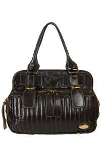 Chloe Bay Black Leather Bag