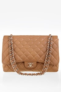 11ad8ae1a8 Chanel Classic Flap Maxi Jumbo Taupe Τσάντα ...