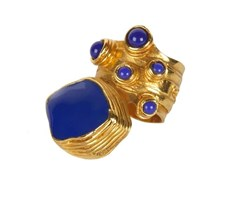 YSL Blue Lapis  Roman Ring