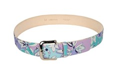 Emilio Pucci Multicoloured Floral Leather Belt Solid