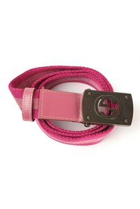 Gucci Pink and Fuschia Logo Belt