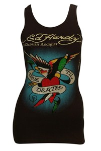 Ed Hardy Black Embellished Top