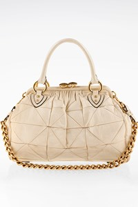 Marc Jacobs Patchwork Stam Οff-White Leather Bag