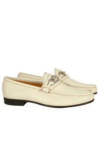 Gucci Cream Leather Loafers