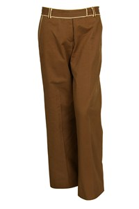 DKNY Brown Trousers with Beige Trimmings