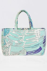 Emilio Pucci Terry Beach Bag in Blue Shades