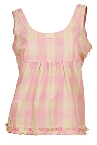 Juicy Couture Beige and Pink Tartan Top