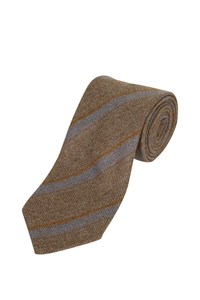 Ermenegildo Zegna Cashmere Tie with Diagonal Stripes