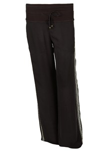 Pinko Black Trousers with Side Stripes