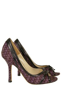 Jimmy Choo Jackie Tweed Open-Toe Pumps