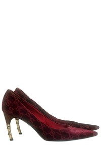 Gucci Bamboo and Logo-Embossed Pointed Pumps