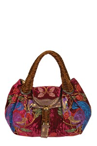 Fendi Squirrel Spy Velvet Hobo Bag