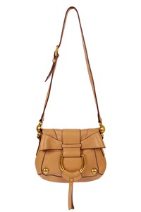 Dolce & Gabbana Small Beige Leather Shoulder Bag